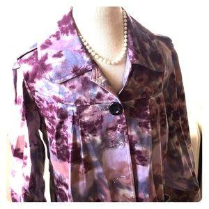Jackets & Blazers - Purple/Pink 3/4 Sleeve Spring Rain Jacket